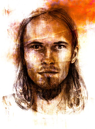 redemption: interpretation of jesus christ portrait as young man