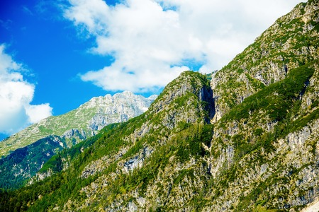 peaks: Beautiful landscape. Beautiful peaks in the clouds