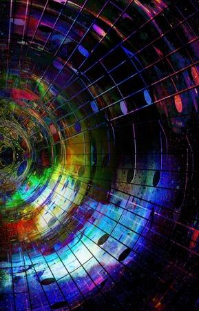 psique: notas de la música en el espacio con estrellas. color de fondo abstracto. concepto de la música