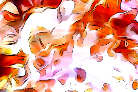erupt: Color abstract background. flame structure. Computer collage. Earth Concept Stock Photo