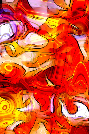 Color abstract background. flame structure. Computer collage. Earth Concept Stock Photo