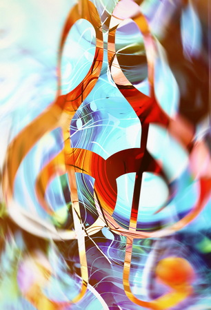 melodist: abstract music theme background with clef, modern design Stock Photo