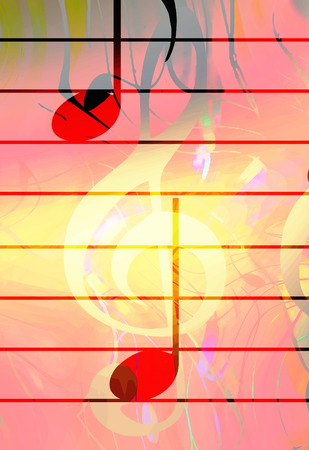 melodist: graphic design illustration of notes and note lines, music concept