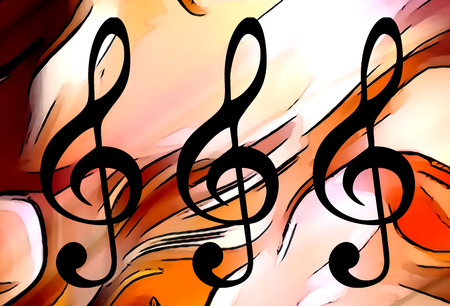 sonata: abstract music theme background with clef, modern design Stock Photo