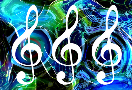 metaphysical: abstract music theme background with clef, modern design Stock Photo