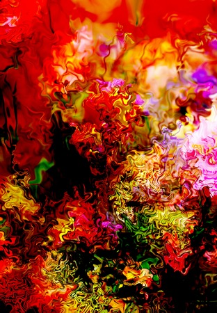 Abstract colorful design with flower. Computer art Stock Photo