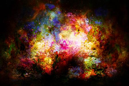 psique: el espacio y las estrellas cósmica, el color del fondo cósmico abstracto. efecto de fuego