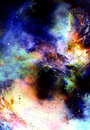 Cosmic space and stars, color cosmic abstract background Stock Photo