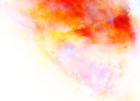 Color cosmic space, multicolor background. Watercolor painting effect
