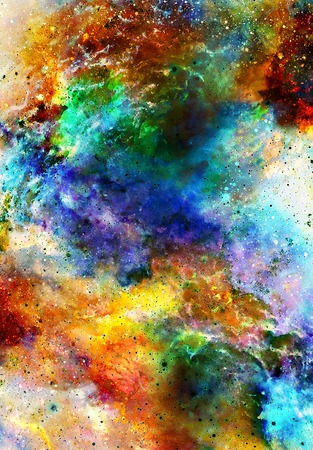 dust cloud: Nebula, Cosmic space and stars, blue cosmic abstract background.