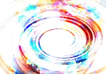 glimpse: centripetal circle shapes on abstract colorful cosmic backgroung.
