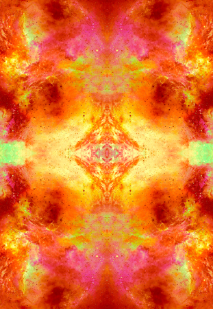 astral: Cosmic space and stars, color cosmic abstract background. Fire effect in space. Stock Photo