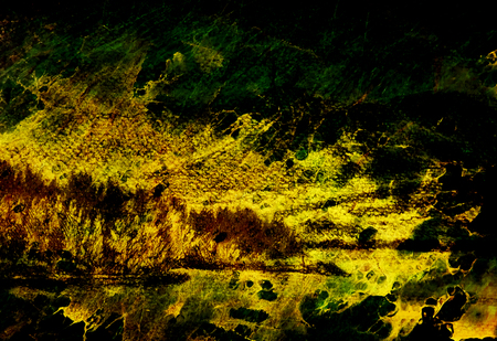 Paisaje De Paisaje Con Lago Y Montanas Dibujo A Lapiz Efecto De