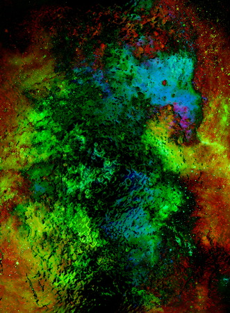 crackles: abstract background with multicolor space structures, crackles and spots, glass effect.
