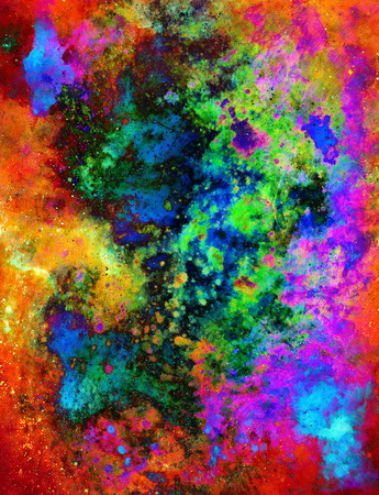crackles: abstract background with multicolor space structures, crackles and spots. Stock Photo