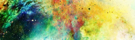 star sky: Cosmic space and stars, color cosmic abstract background and gentle ornament.