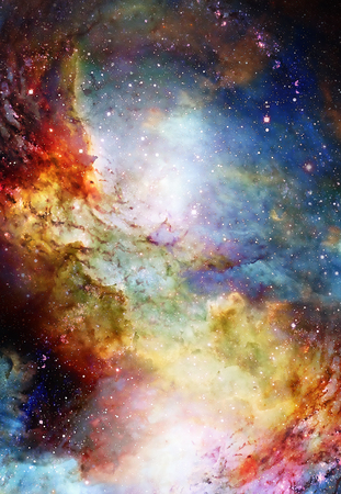 Cosmic space and stars, color cosmic abstract background.