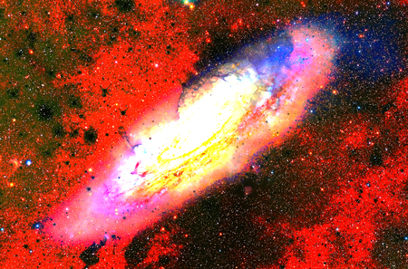 Cosmic galaxy and stars, color cosmic abstract background.