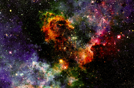 astral: Cosmic space and stars, color cosmic abstract background.