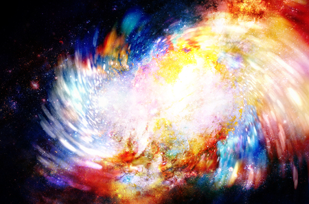 abstract background with cosmic energy swirling effect, colorful dynamic movement