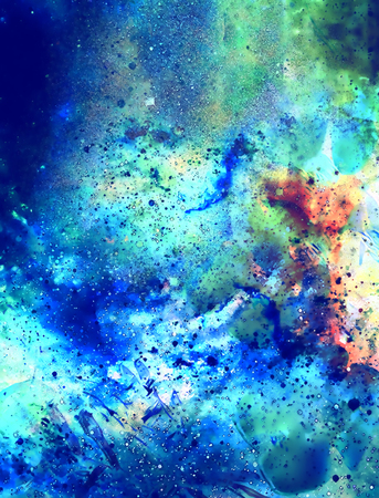 Cosmic space and stars, color cosmic abstract background. Winter effect. Stock Photo