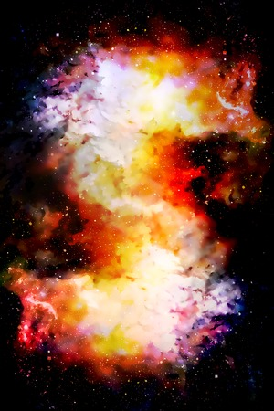 Cosmic space and stars, color cosmic abstract background. Graphic effect.
