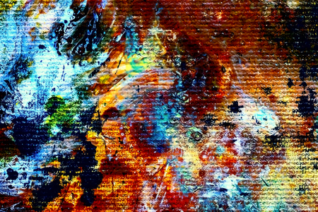 pallette: Detail of painting splashes, color tones mixed together and Light graphic effect. Banque d'images