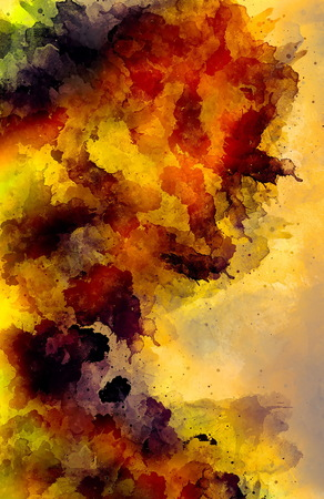 Detail of painting splashes, color tones mixed together.