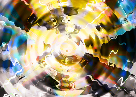 abstract multicolor luminous background with swirling and movement.
