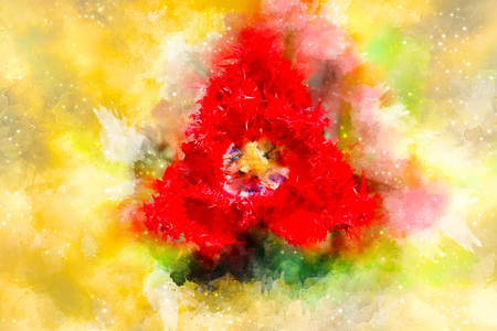 abstract ornamental collage with tulip flower motive. Reklamní fotografie - 119010398