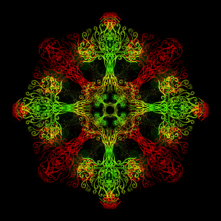 mandala made of sacred ornamental tree of life symbol. 写真素材 - 119011388