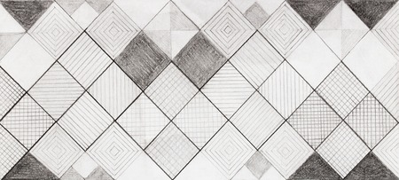 hand drawn rhytmical structured pattern on paper