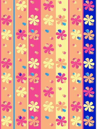 Spring flowers pattern, graphic floral motive. Vector illustration Stockfoto - 119335768