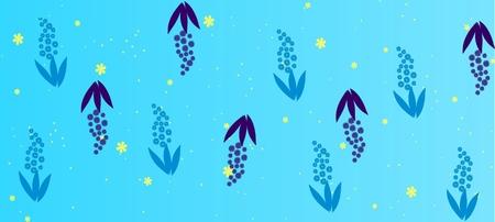 Spring flowers pattern, graphic floral motive. Vector illustration Stock Illustratie
