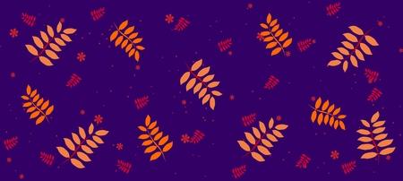 Spring plant pattern, graphic, Vector illustration