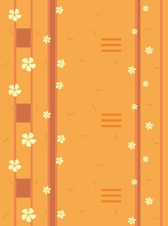 Spring flowers pattern, graphic floral motive. Vector illustration eps. Stockfoto - 120370363
