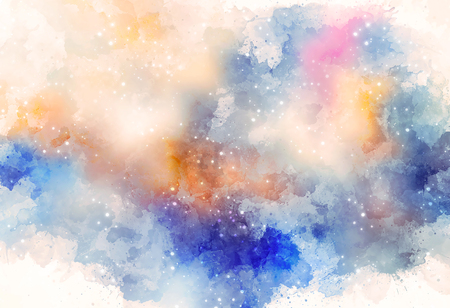éclaboussures de couleurs abstraites sur fond blanc.