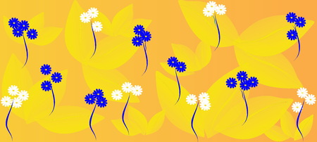 Spring flowers pattern, graphic floral motive. Graphic flowers. Stockfoto - 120370522