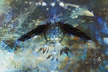 dream catcher, feathers and ornaments, indian spiri. Zdjęcie Seryjne