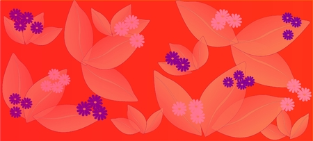 Spring flowers pattern, graphic floral motive. Graphic flowers. Stockfoto - 120370599