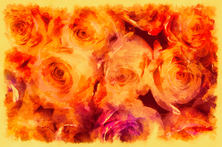 Decorative background with rose pattern, multicolored background. Stockfoto - 120370872