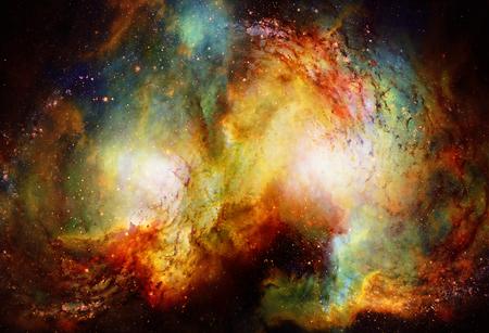 Kosmischer Raum und Sterne, kosmischer abstrakter Farbhintergrund.