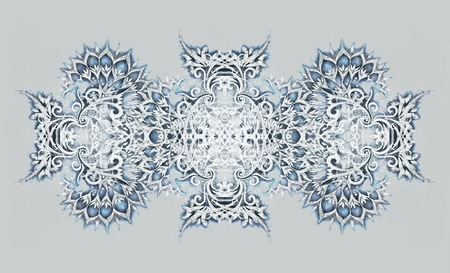 Ornamental Drawing. Original hand draw on paper. Computer effect.