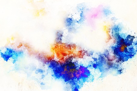 abstract color splashes and spots on white background. Stock fotó