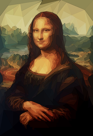 Mona Lisa by Leonardo da Vinci and poligon effect.