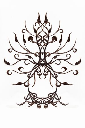 tree of life symbol on structured ornamental background, yggdrasil