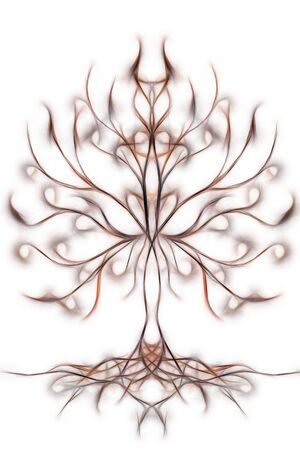 Tree of life symbol on structured ornamental