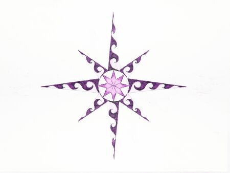 Ornamental graphic in shape of a star