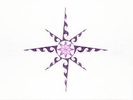 Ornamentale Grafik in Form eines Sterns