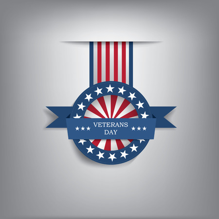 Veterans day badge illustration for posters, flyers, decoration etc  Vector